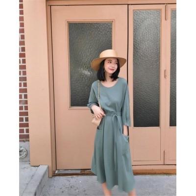 [55555SHOP]💖タイムセール💖ニットワンピース💖韓国新品 Vネックワンピース セクシー 柔らかい素材、着心地抜群 韓国ファッション レディースファッション