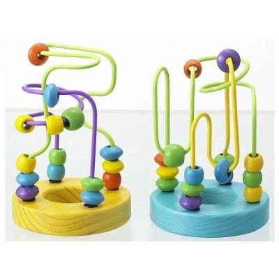 木製玩具 ミニルーピングセット 木のおもちゃ 木製玩具 知育玩具 ビーズコースター