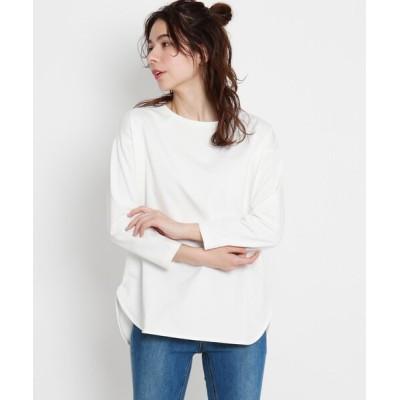 tシャツ Tシャツ ラウンドヘムロングTシャツ