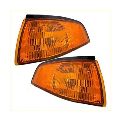 Driver and Passenger Park Signal Side Marker Lights Lamps Lenses Replacement for Ford F3CZ13201A F3CZ13200A 並行輸入品