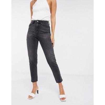 ヴェロモーダ レディース デニムパンツ ボトムス Vero Moda Joana mom jean with high rise in washed black