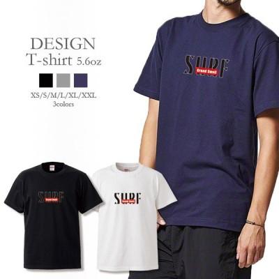 Tシャツ メンズ 半袖 UNISEX GrandSwell SURF ロゴ アート BOXロゴ シンプル 西海岸 サーフスタイル カッコいい トレンド クルーネック プリントTシャツ