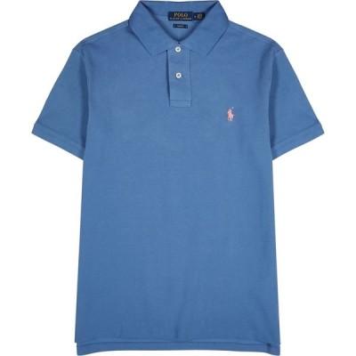 ラルフ ローレン Polo Ralph Lauren メンズ ポロシャツ トップス blue pique cotton polo shirt Blue