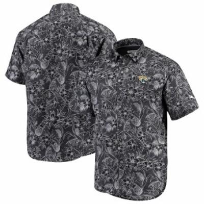 """トミーバハマ メンズ カジュアルシャツ """"Jacksonville Jaguars"""" Tommy Bahama Tiki Luau Woven Button-Up Shirt - Black"""