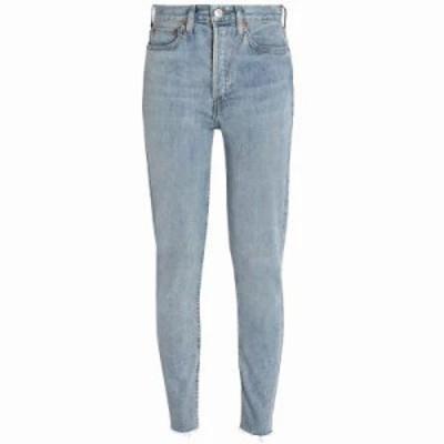 リーバイス ジーンズ・デニム High-rise slim-leg jeans Light denim