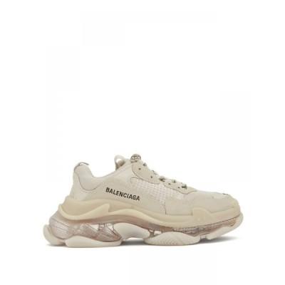 バレンシアガ Balenciaga レディース スニーカー シューズ・靴 Triple S leather and mesh trainers Beige