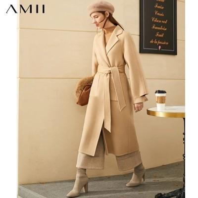 海外輸入アパレル Amii Minimalism Winter Jacket Female Winter Temperament Solid Lape
