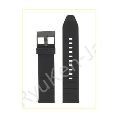 【新品・未使用品】Diesel Watch Strap Replacement Strap LB-DZ4507 Rubber 22 mm Black【並行輸入品】