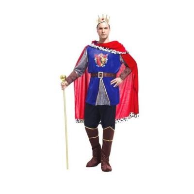 メンズ コスチューム  キング 豪華7点セット ハロウィン 仮装 王子様 大人