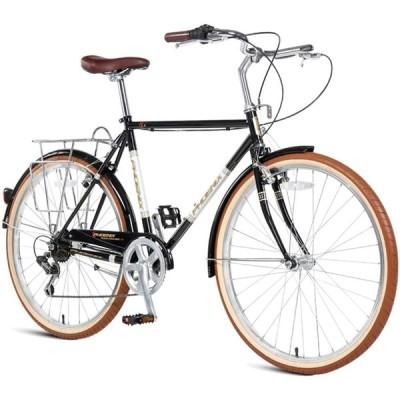 レトロロードバイク、女性用高炭素鋼7スピードシティコミューターバイク、クイックリリース、ダブルVブレーキ、ロードまたはダートトレイルツーリングに最適,