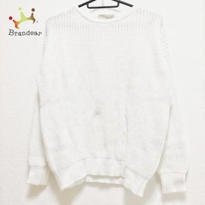 フォンデル VONDEL 長袖セーター サイズS レディース - 白 クルーネック 新着 20210216