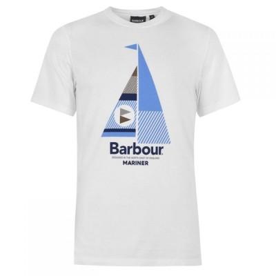 バブアー Barbour Lifestyle メンズ Tシャツ トップス Sail T-Shirt White WH