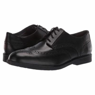 ハッシュパピー Hush Puppies メンズ 革靴・ビジネスシューズ ウイングチップ シューズ・靴 Shepsky Wing Tip Oxford Black Leather