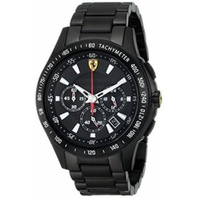 腕時計 フェラーリ メンズ Ferrari Men's 0830046 Scuderia Analog Display Quartz Black Watch