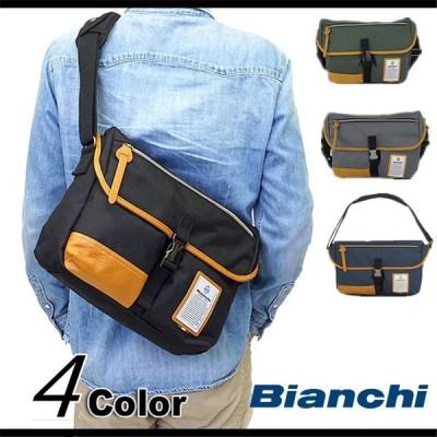クリスマスBianchi(ビアンキ) ショルダーバッグ 斜め掛けバッグ B5 タブレット収納 メンズ レディース 男女兼用