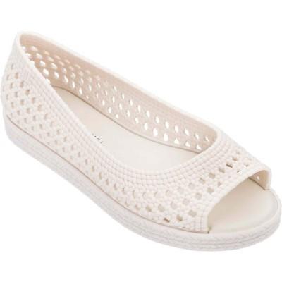 メリッサ MELISSA レディース スリッポン・フラット オープントゥ シューズ・靴 x Jason Wu Camilla Woven Open Toe Flat White