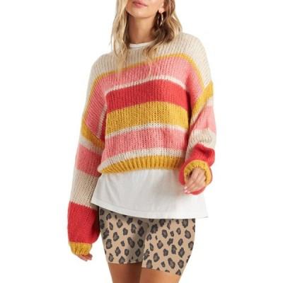ビラボン BILLABONG レディース ニット・セーター トップス Soft Wind Stripe Sweater Guava