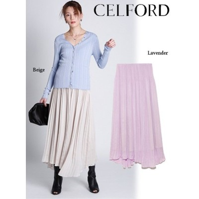 60%OFF CELFORD  セルフォード 楊柳プリーツスカート  20春夏 CWFS201056 フレアスカート