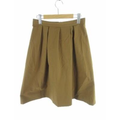 【中古】アンタイトル UNTITLED ロングスカート フレアー 茶 ブラウン 3 ボトムス レディース