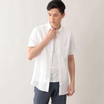 強撚カラー半袖シャツ.