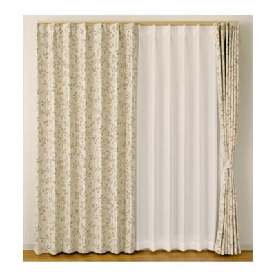 【送料無料!】ナチュラルリーフ柄・遮光カーテン ドレープカーテン(遮光あり・なし) Curtains, blackout curtains, thermal curtains, Drape(ニッセン、nissen)