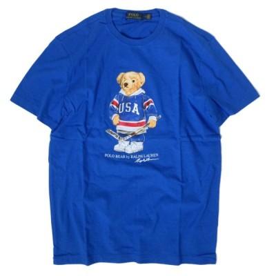 ポロ ラルフ ローレン USA ベアー クルーネック Tシャツ ロイヤル ブルー/メンズ/半袖Tシャツ
