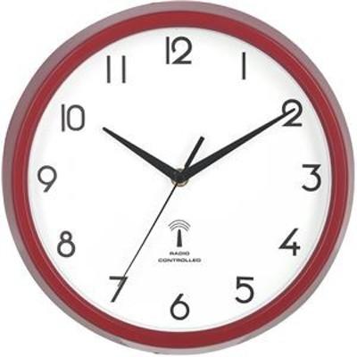 ds-2337255 電波掛時計 カペラ Φ27cm レッド(RD)(27266)【3個セット】【代引不可】 (ds2337255)
