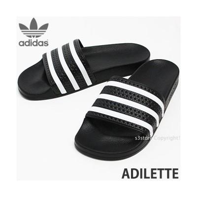 アディダス オリジナルス アディレッタ adidas ORIGINALS ADILETTE メンズ サンダル 定番 シャワー スポーツ ビーチ マリン カラー:ブラック/ホワイト