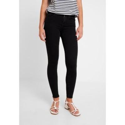 オンリー レディース デニムパンツ ボトムス ONLPOWER MID PUSH UP - Jeans Skinny Fit - black black