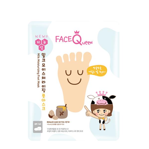 FaceQueen 蜂蜜牛奶滋潤護足膜1入 x10入團購組
