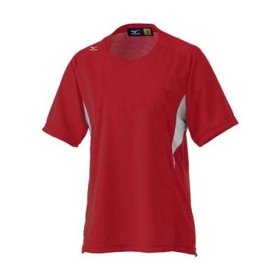 ミズノ  ミズノ ゲームシャツ(レディース/ソフトボール) 72:レッド×ホワイト(12jc4f7072)  スポーツ用品 取り寄せ