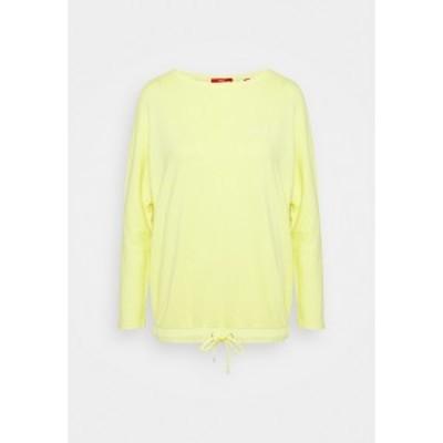 エスオリバー レディース パーカー・スウェットシャツ アウター LANGARM - Sweatshirt - lime yellow lime yellow