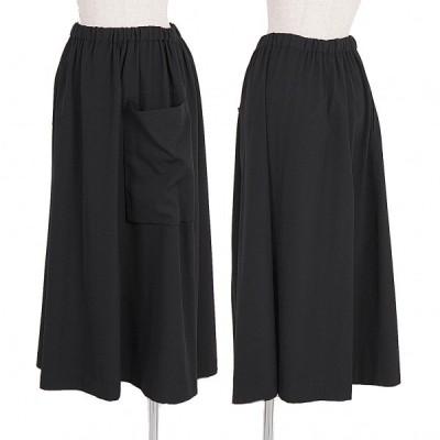 アルファスピンALFASPIN ウールギャバポケットデザインスカート 黒M 【レディース】
