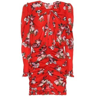 マグダ ブトリム Magda Butrym レディース ワンピース ワンピース・ドレス Barletta floral silk-crepe minidress Red