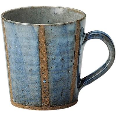信楽焼 へちもん 青萩立線 マグカップ 3-1088