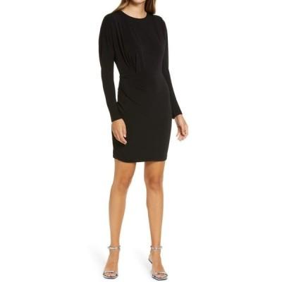 エバニュー レディース ワンピース トップス Long Sleeve Minidress Black