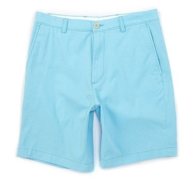 ランドツリーアンドヨーク メンズ ハーフ&ショーツ ボトムス Flat Front 9#double; Inseam Washed Cotton Shorts Bright Aqua