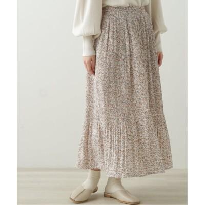 Ray Cassin / 花柄消しプリーツスカート WOMEN スカート > スカート
