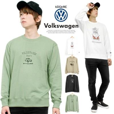 VOLKSWAGEN(フォルクスワーゲン) スウェット メンズ プリント 裏毛 クルーネック トレーナー タイプ2 キャラクター スエット 自動車 バス
