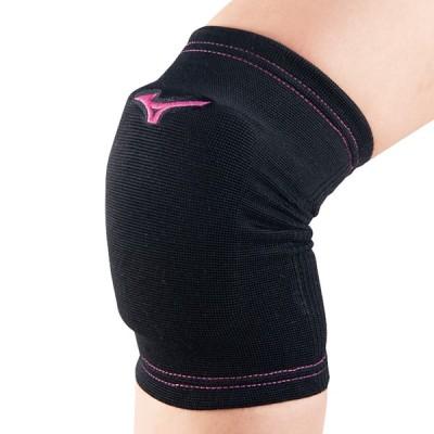 MIZUNO ミズノ ジュニア用 膝サポーター(2個セット) ブラック×ベリーピンク バレーボール V2MY8011