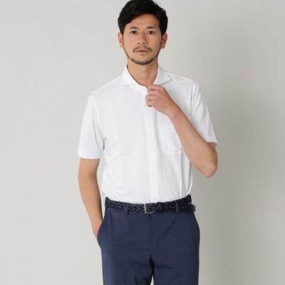 ホリゾンタルカラーコットンニットサッカーシャツ/サマーシャツ(クールビズ/ビジネスカジュアル対応)