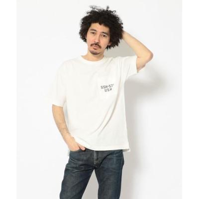 (AVIREX/アヴィレックス)TYPE BLUE/ピグメント ポケットTシャツ/POCKET T-SHIRT/タイプブルー/メンズ WHITE