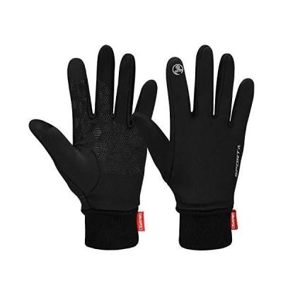 Cevapro 冬用手袋 軽量 冬用 暖かい手袋 ワークアウトグローブ フルフィンガー 優れたグリップ サイクリ