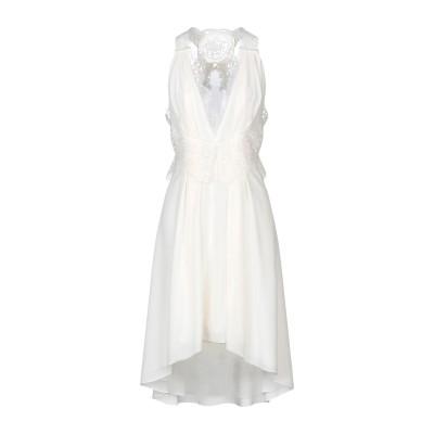 VICTORIA BECKHAM ミニワンピース&ドレス アイボリー 8 シルク 100% / コットン / レーヨン / ナイロン / ポリエステ