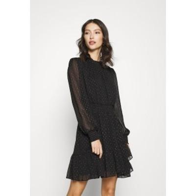 フォーエバー ニュー レディース ワンピース トップス CALLIE SKATER MINI DRESS - Day dress - black black