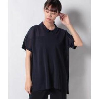 Leilian(レリアン)ビックシルエットポロシャツ