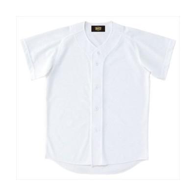 ZETT ゼット 少年用ユニフォームシャツ ホワイト BU2071 1100 サイズ:160 野球&ソフト ユニフォーム シャツJR