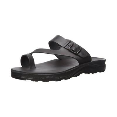 Jerusalem Sandals Men's Abner Molded Footbed Slide Sandal, Black, 47 Medium EU (14 US)【並行輸入品】