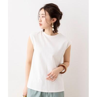 tシャツ Tシャツ 綿100% USAコットン 前後2WAY フレンチスリーブ デザインカットソー