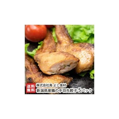新潟県産鶏の手羽先餃子 5パック/株式会社鳥よし食材/送料無料